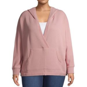 NWT WOMENS ATHLEISURE FRENCH TERRY HOODED PULLOVER
